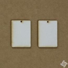 Téglalap chipboard karton díszítőelem 3,5 cm