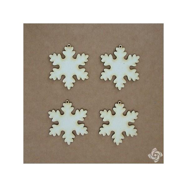 Hópehely 1 chipboard karton díszítőelem, 5 cm