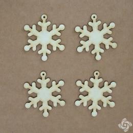Hópehely 2 chipboard karton díszítőelem
