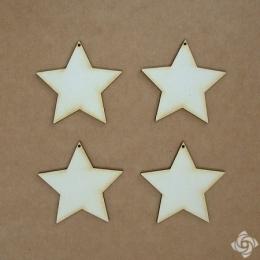 Csillag 2 chipboard karton díszítőelem, 5 cm