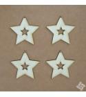 Csillag a csillagban chipboard karton díszítőelem, 5 cm