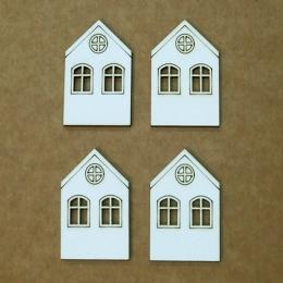 Házikó chipboard karton díszítőelem