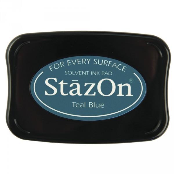 Sötét türkiz Teal Blue StazOn bélyegzőtinta párna