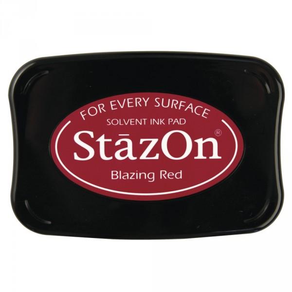 Tűzpiros Blazing Red StazOn bélyegzőtinta párna