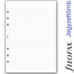 A5 vonalas jegyzettömb fehér, fekete borítóval | Filofax