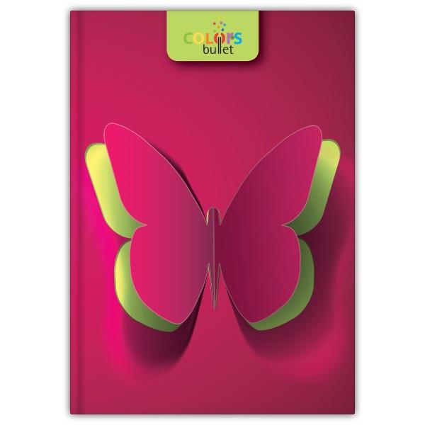 Butterfly A5 Bullet Colors notesz