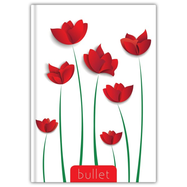 Flower A5 Bullet Colors notesz