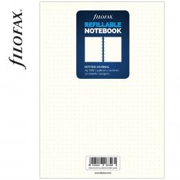 Dotted A5 Filofax Notebook fehér ponthálós jegyzetlapok