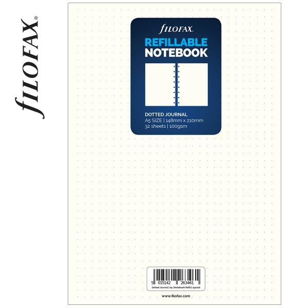 A5 ponthálós fehér jegyzetlap   Filofax NotebookKatalógus  Termék E