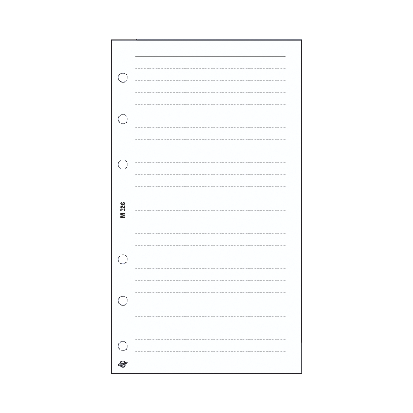 M Vonalas jegyzetlap , fehér
