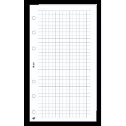 S négyzethálós jegyzetlap , fehér