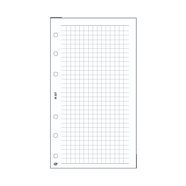 M négyzethálós jegyzetlap , fehér