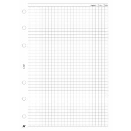 L négyzethálós jegyzetlap , fehér