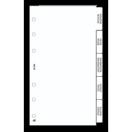 Fehér M (Personal) Elválasztólap Saturnus pótlapcsomag