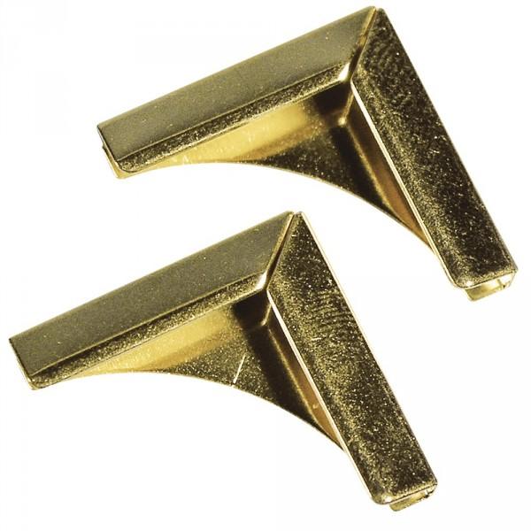 Arany fém albumsarok 21 mm , 4 db