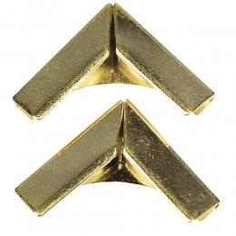 Arany fém albumsarok 14 mm , 4 db