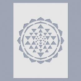 Sri Yantra stencil