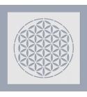 Mandala Élet virága stencil II.