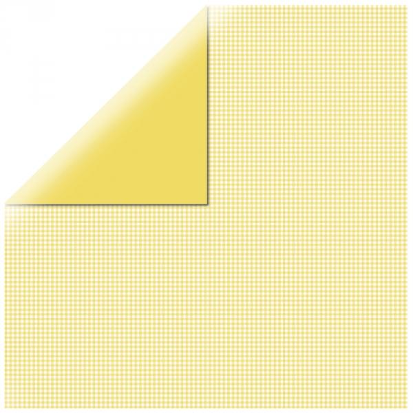 "Yellow Mono Basics 12"" scrapbookpapír"