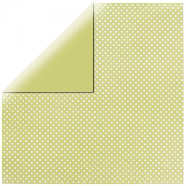 """Lime Glitter Dots 12"""" scrapbookpapír"""