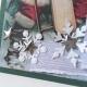 "White Glitter 12"" scrapbookpapír"
