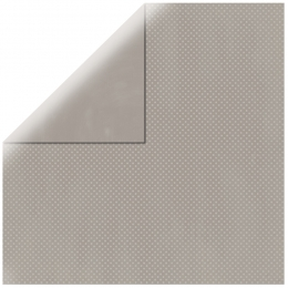 "Light Grey Double Dot 12"" scrapbookpapír"