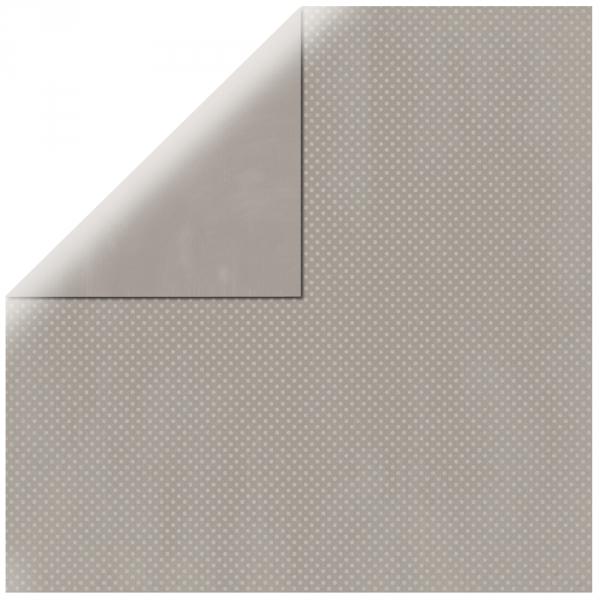 "Light Grey Double Dot 12"" scrapbookpapír"