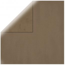 """Dark Brown Double Dot 12"""" scrapbookpapír"""