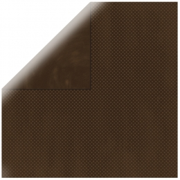 "Mocha Double Dot 12"" scrapbookpapír"