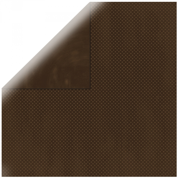 """Mocha Double Dot 12"""" scrapbookpapír"""