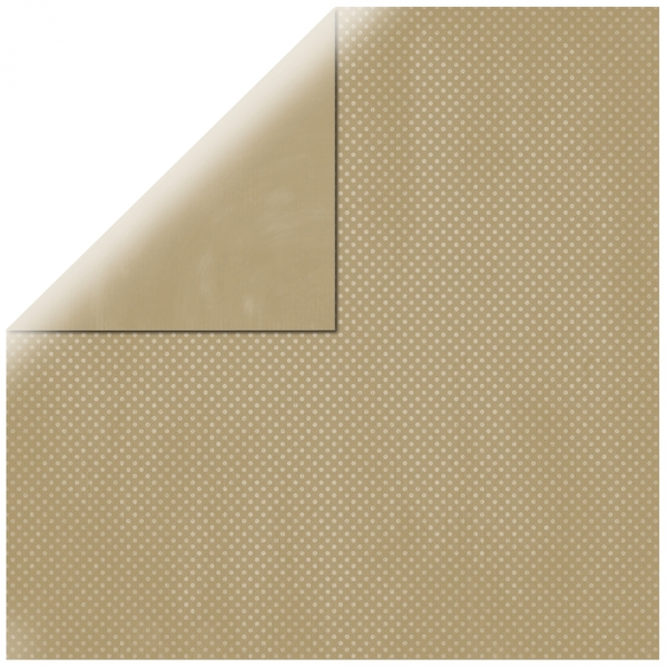 "Taupe Brown Double Dot 12"" scrapbookpapír"