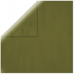 "Olive Double Dot 12"" scrapbookpapír"