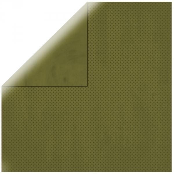 """Olive Double Dot 12"""" scrapbookpapír"""
