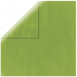 "Apple Green Double Dot 12"" scrapbookpapír"