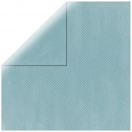 "Sea Aqua Double Dot 12"" scrapbookpapír"