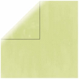 "Pastel Green Double Dot 12"" scrapbookpapír"