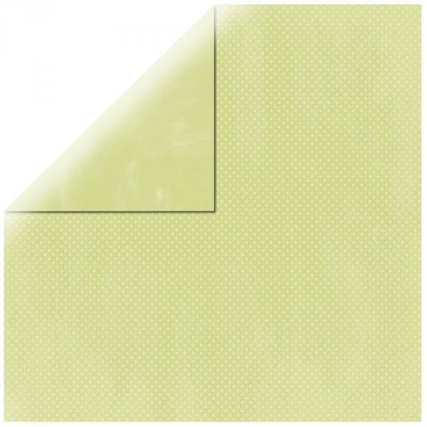 "Pastel Green Double Dot 12"" scrapbookpapír"