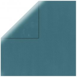 "Dark Turquoise Double Dot 12"" scrapbookpapír"
