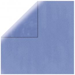 "Blue Purple Double Dot 12"" scrapbookpapír"