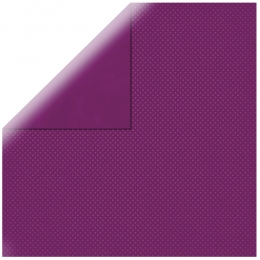 "Purple Double Dot 12"" scrapbookpapír"