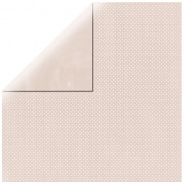 "Shell Pink Double Dot 12"" scrapbookpapír"