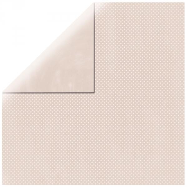 """Shell Pink Double Dot 12"""" scrapbookpapír"""