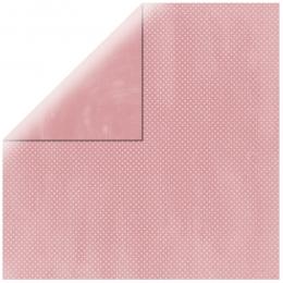 "Baby Pink Double Dot 12"" scrapbookpapír"
