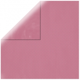 "Antique Pink Double Dot 12"" scrapbookpapír"