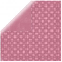 """Antique Pink Double Dot 12"""" scrapbookpapír"""