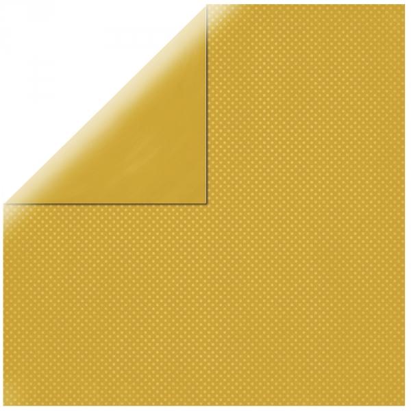 "Honey Yellow Double Dot 12"" scrapbookpapír"
