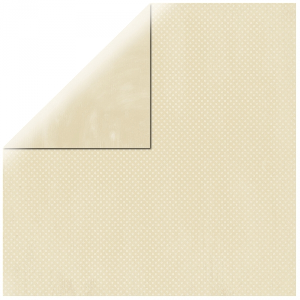 "Ivory Double Dot 12"" scrapbookpapír"