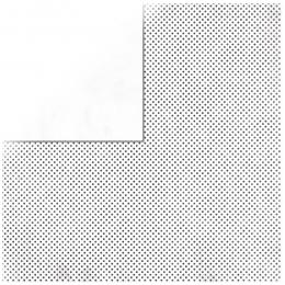 "Vanilla Double Dot 12"" scrapbookpapír"