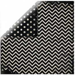 "Black Chevron 12"" scrapbookpapír"