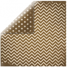 "Chocolate Chevron 12"" scrapbookpapír"